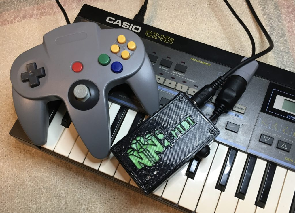 N64>MIDI Device with N64 Controller and CZ-101 Synth Wide format